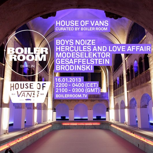 Boiler Room House Of Vans
